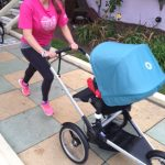 Running with a buggy.